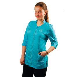 Tikima Aleria – חולצה למניעת הרטבות בזמן המקלחת – טורקיז