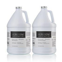 iGROOM –גלון שמפו + גלון מרכך פחם וקרטין CHARCOAL & KERATIN