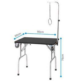 ARTERO – שולחן מתקפל עם מוט ריסון (ידית נשיאה) וגלגלים EXPO TABLE WHEELS ARM PULL