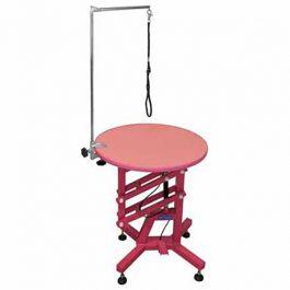 ARTERO – שולחן מתכוונן עם לחץ אויר קטן עגול TABLE AIR PINK
