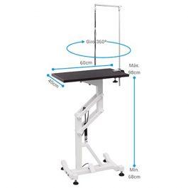 ARTERO – שולחן מתכוונן עם לחץ אויר קטן מלבני AIR RECTANGULAR TABLE
