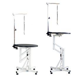 Ibanez – שולחן מתכוונן עם לחץ אויר קטן עגול